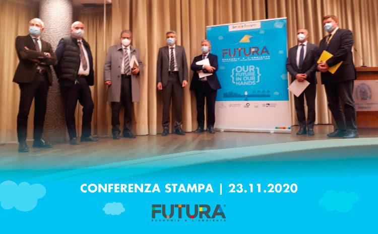 Oggi si è tenuta la conferenza stampa di FUTURA. ECONOMIA PER L'AMBIENTE.